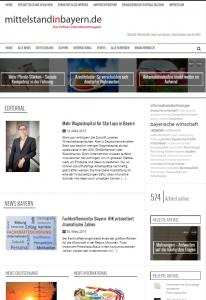 Informationen für den Mittelstand in Bayern: Das Online-Magazin feiert seinen dritten Geburtsag mit einem neuen Layout.