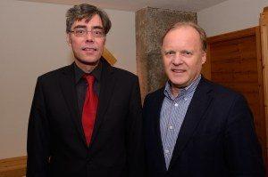 Mit Stephan Werhahn (Enkel Konrad Adenauers)