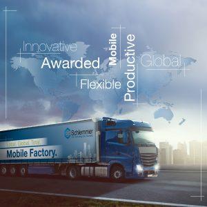 """Die mobile Fabrik von Schlemmer """"on the road"""""""