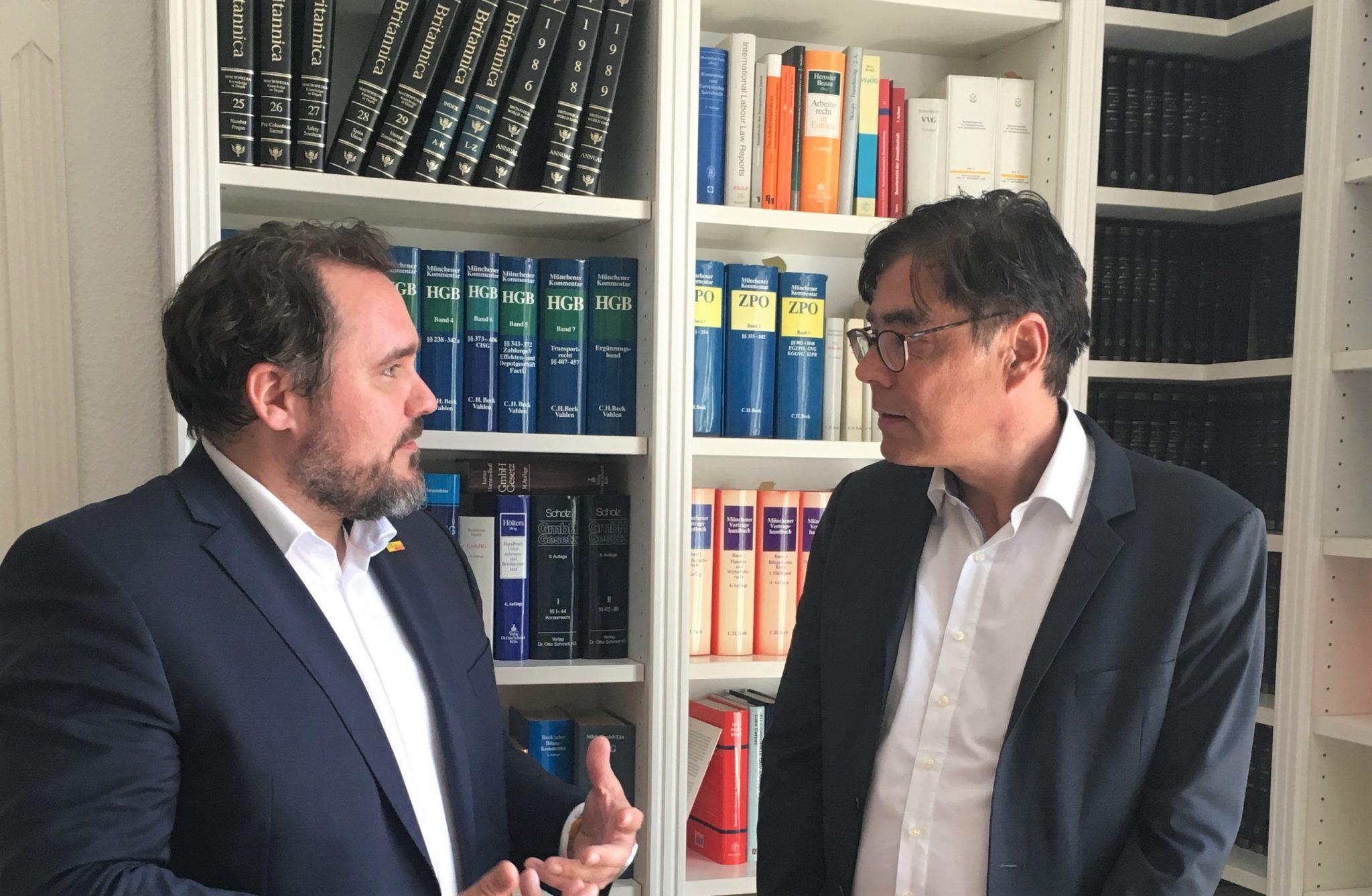 Daniel Föst (FDP) meets Achim von Michel