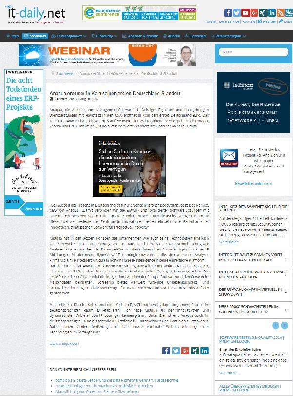 IT daily Patente urheberrecht Agentur München