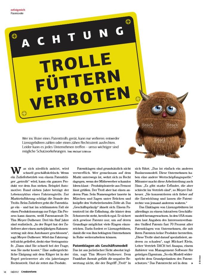 Anaqua Creditreform magazin