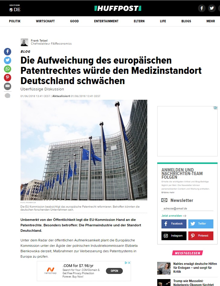 Huffpost article anaqua Germany