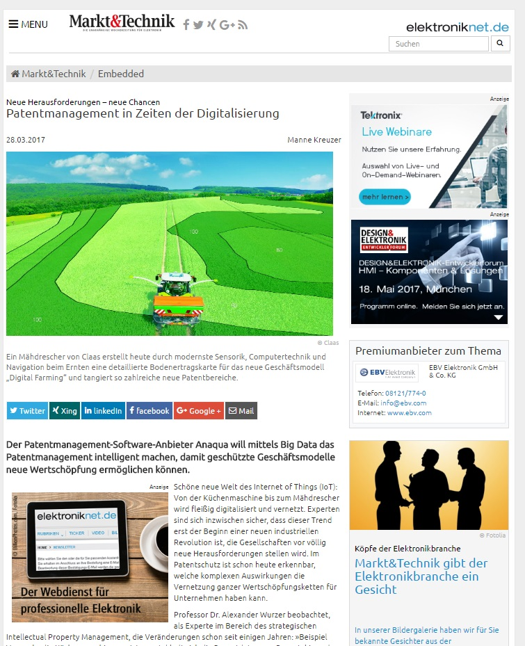 Anaqua Markt &Technik Artikel