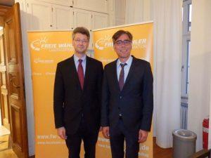 Mit Prof. Michael Piazolo (Freie Wähler) im Bayerischen Landtag