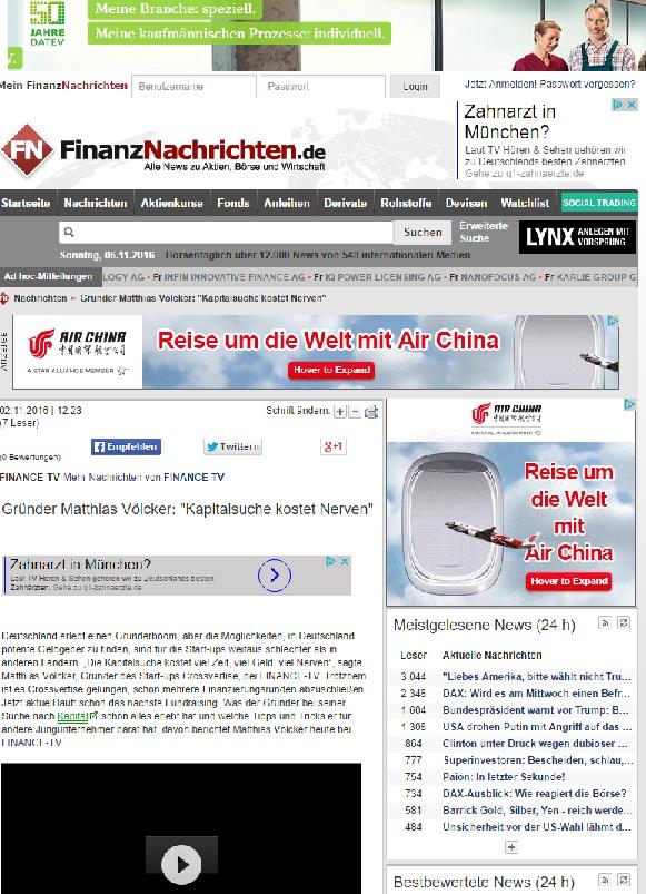 Clipping Finanznachrichten