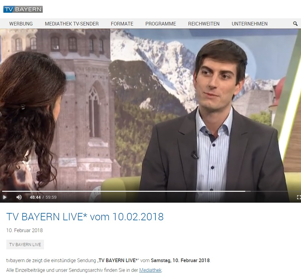 TV Bayern Interview crossvertise WORDUP PR