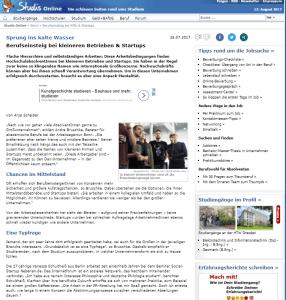 crossvertise studis online recruiting PR