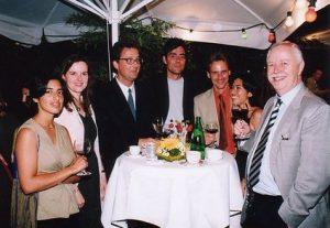 Empfang im Europäischen Patentamt mit Präsident Dr. Ingo Kober (ganz rechts)