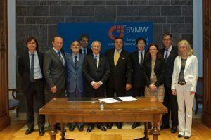 Unterzeichnung Kooperation mit italienischem Mittelstandsverband, Petersberg Bonn