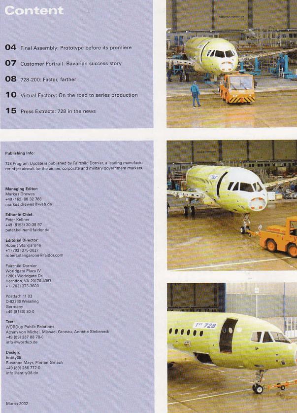 Fairchild Dornier Kundenmagazin Seite 4