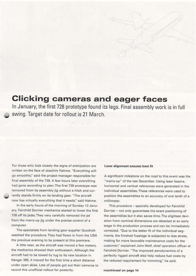 Fairchild Dornier Kundenmagazin Seite 3