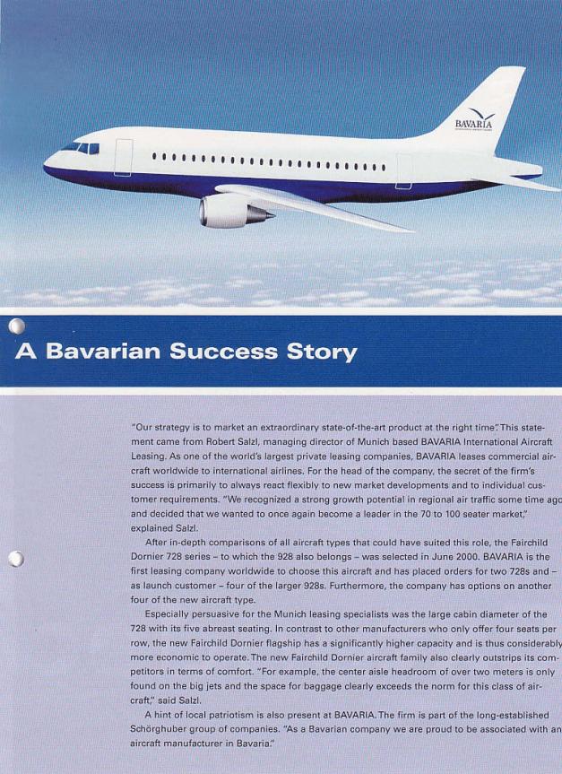 Fairchild Dornier Kundenmagazin Seite 1