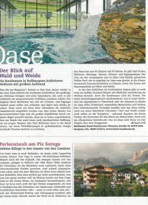 """Hotel Kaufmann im SZ Magazin """"Wohlfühlen"""""""
