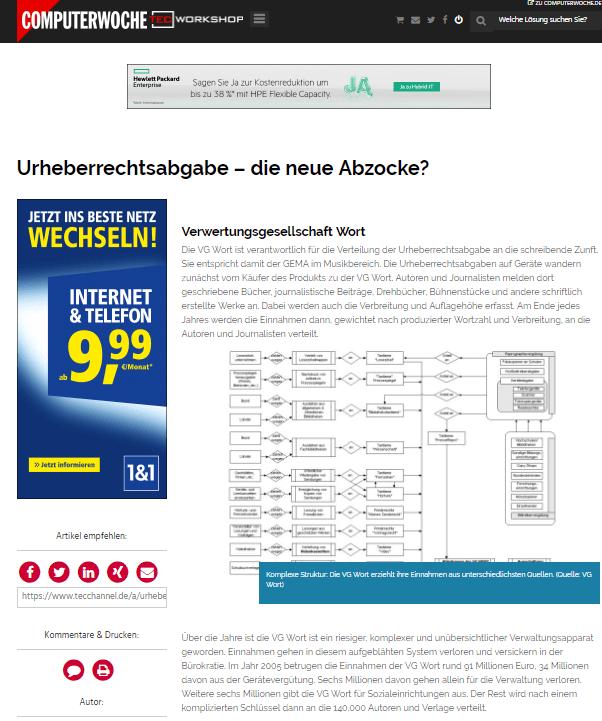 VG Wort Clipping Computerwoche