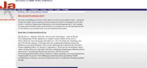 """Website """"Ja zur privaten Kopie"""" von VG WORT und GEMA"""