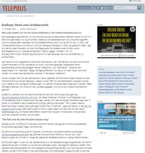 VG Wort in der telepolis PR für Verbände