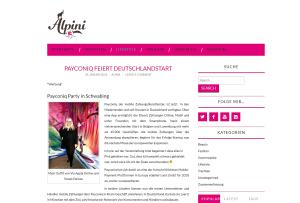 Szene-Blog Alpini Bayern zum Payconiq-Start