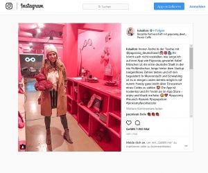 Bloggerin Luisa Lion im Payconiq-Store