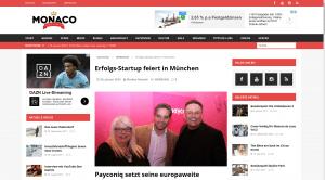 Szene-Blog Monaco de Luxe zum Payconiq-Start