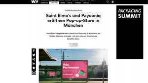 Etatmeldung Payconiq Werbung in der W&V