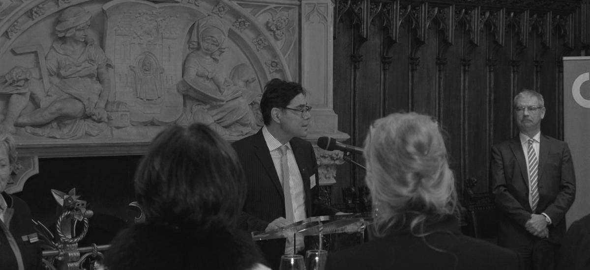 Achim von Micxhel, Rede beim rathausempfang, PR Agentur München