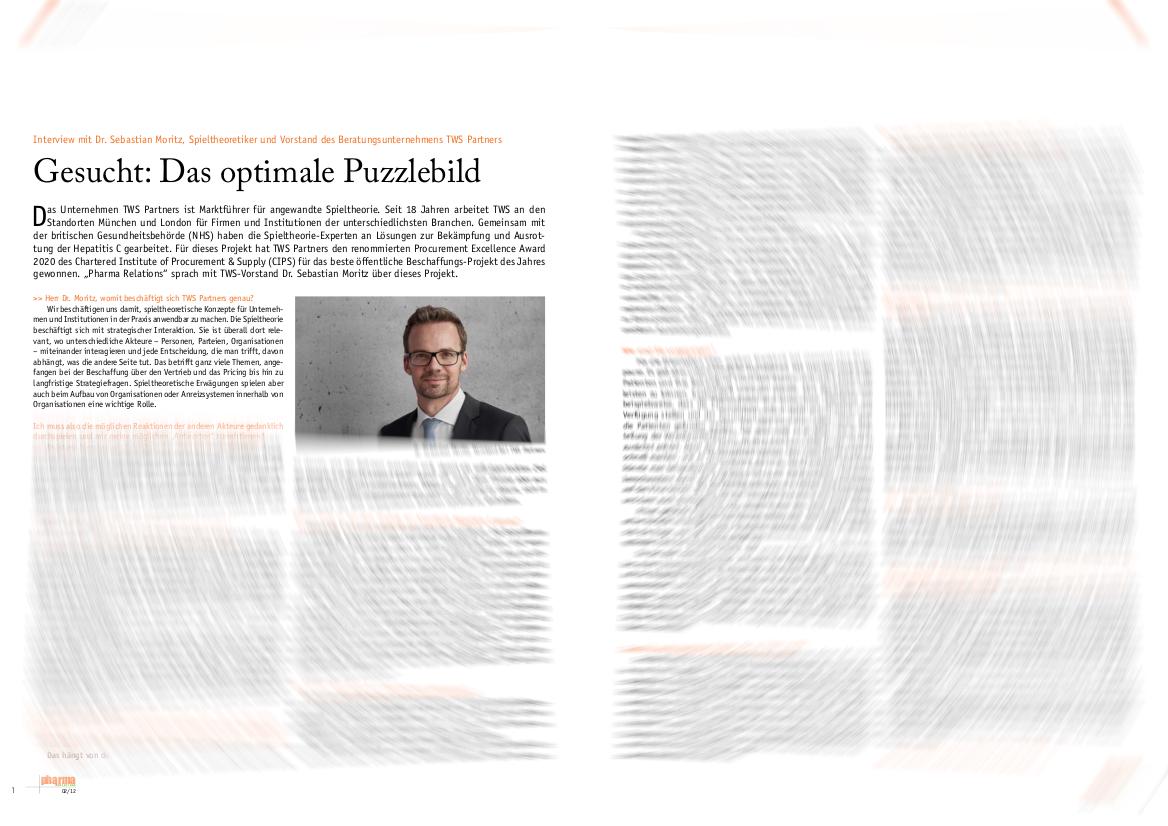 Dr. Sebastian Moritz, TWS Partners im Interview (Pharma Relations)