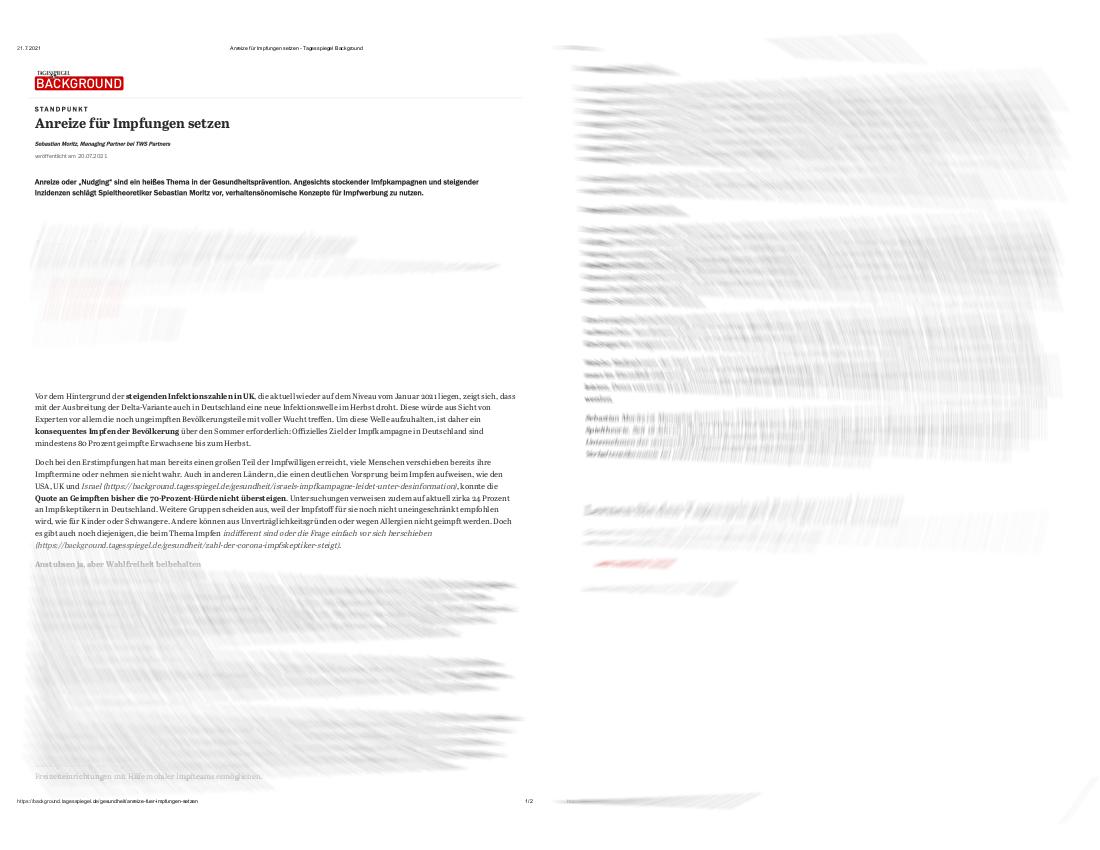 Tagesspiegel Background TWS Partners