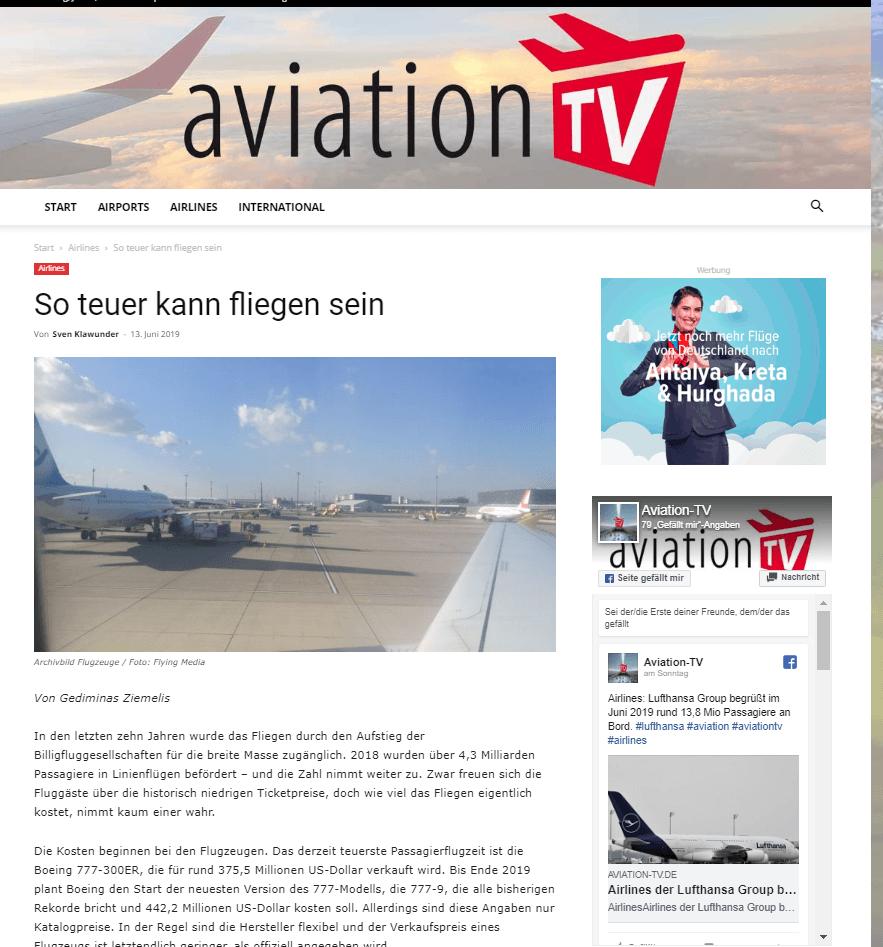 Avia Solutions Gründer gedimidas Ziemelis auf aviation TV
