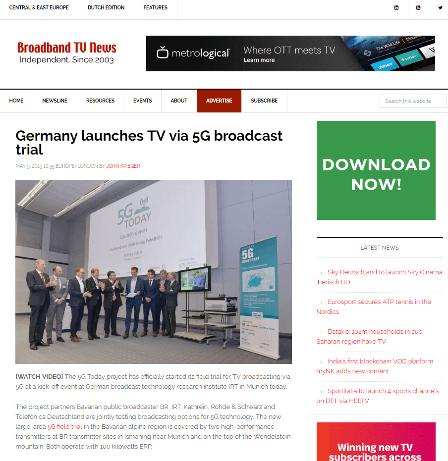 5G Today Broadband TV News