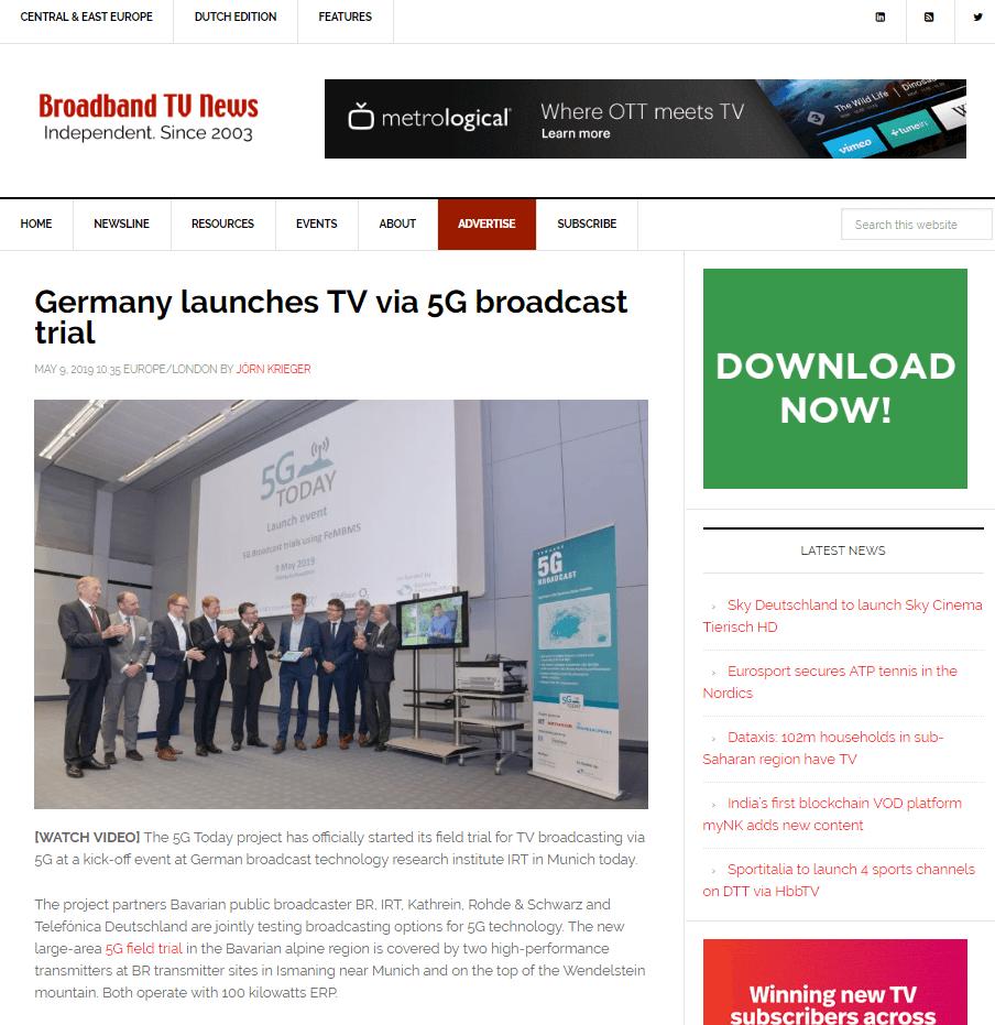 5G Today Broadband TV News