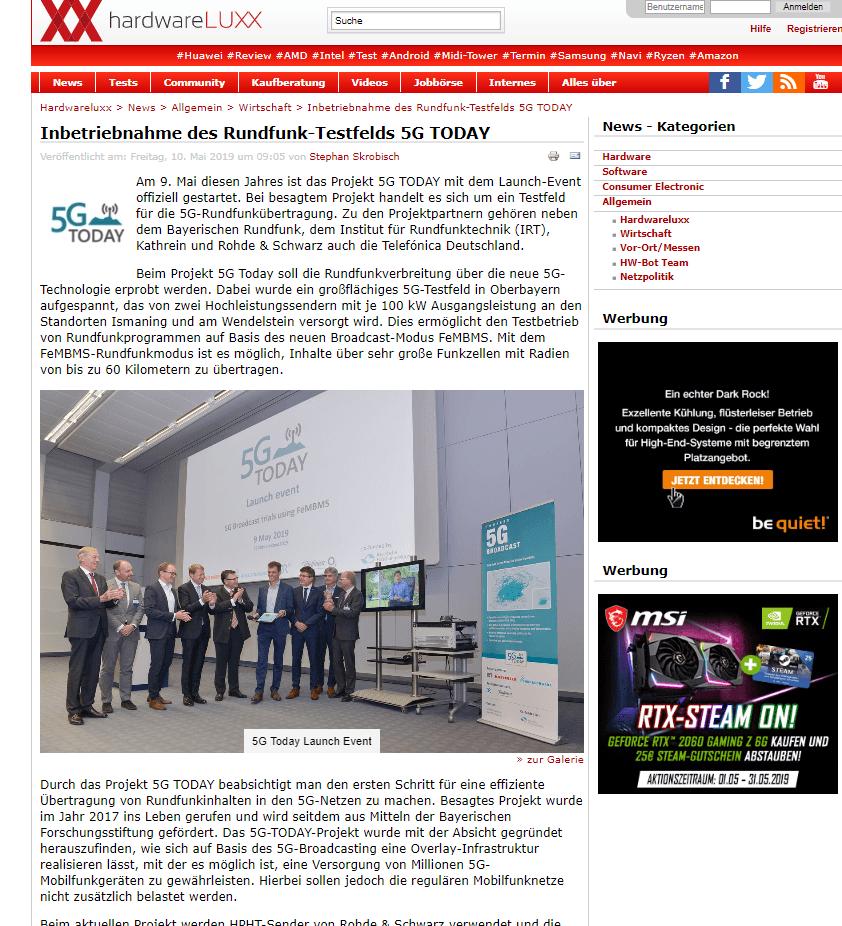 5G Hardware Public Relations München