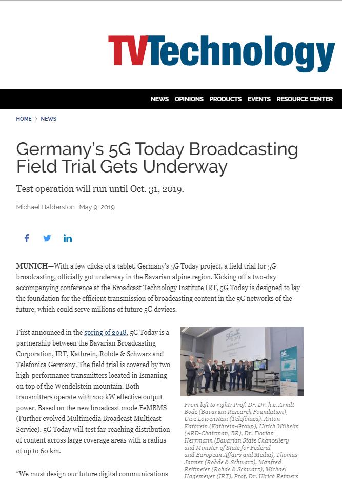 Artikel 5G Broadcast WORDUP PR Agentur technologie