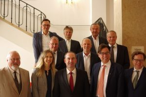 Mit UnternehmerInnen und Bayerns Wirtschaftsminister Hubert Aiwanger im Wirtschaftsministerium in München