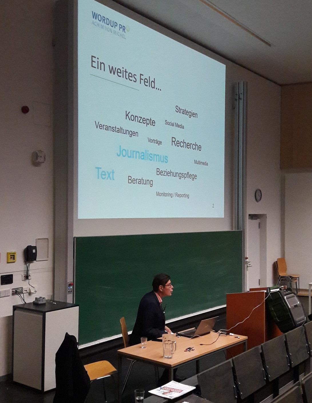 PR Agentur München Universität LMU IfKW Vortrag