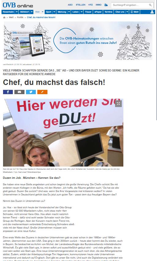 Politikberater Achim von Michel in München