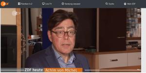 Achim von Michel Interview bei ZDF heute