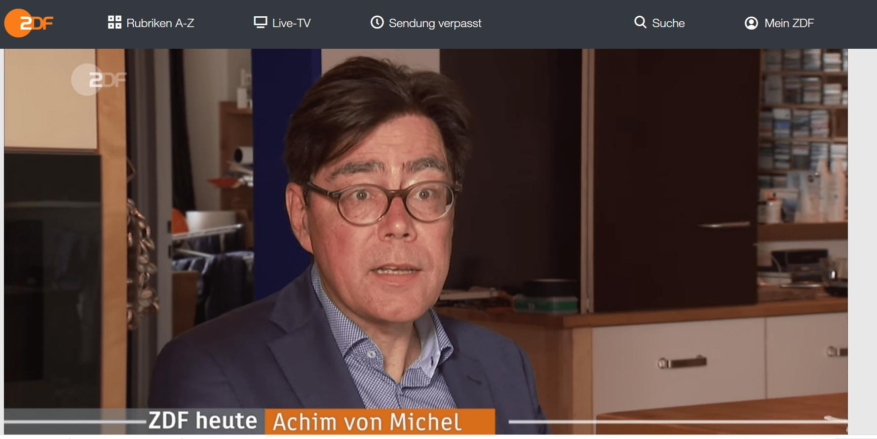 Achim von Michel ZDF heute Interview