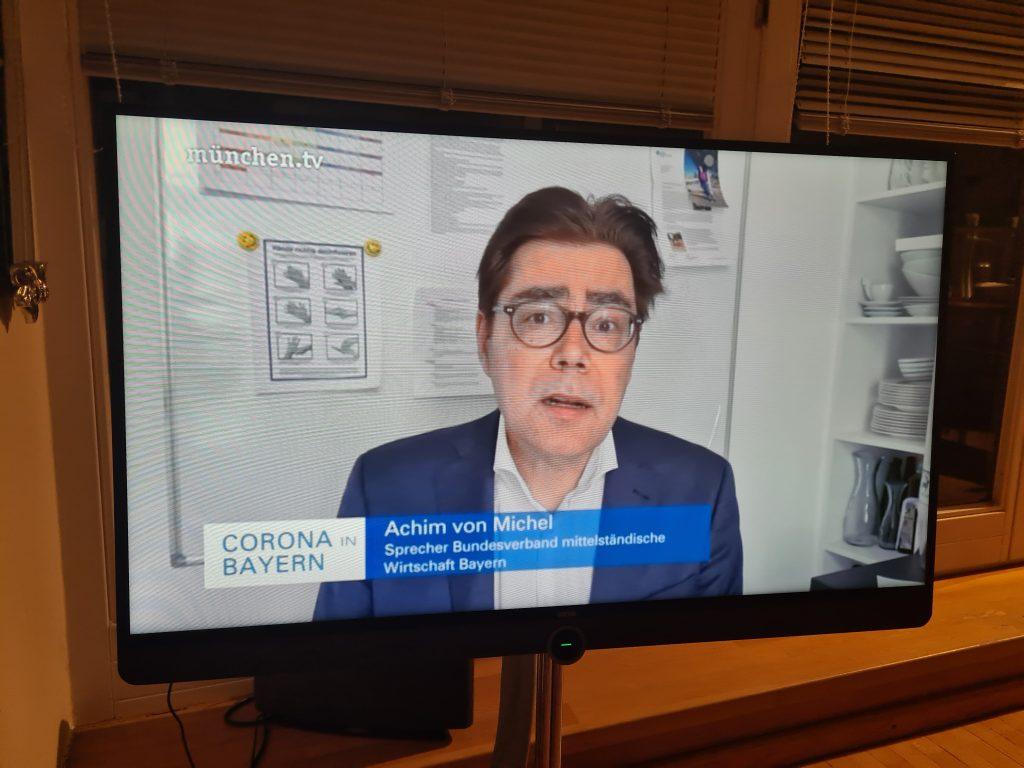 Corona und Wirtschaft: Interview auf bayern.tv
