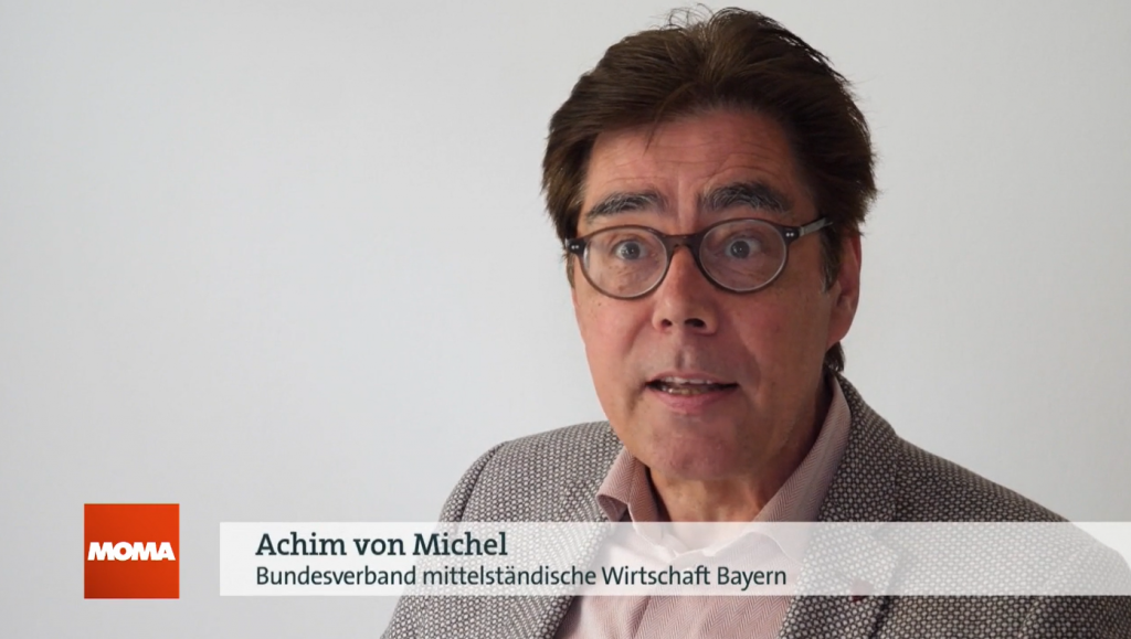 Achim von Michel, TV Interview Morgenmagazin ARD ZDF