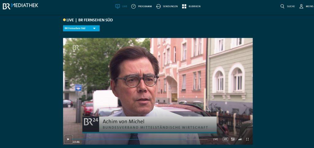 Achim von Michel - Statement in der Rundschau des Bayerischen Fernsehens zur Impfdiskussion
